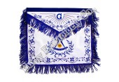 Masonic Regalia Blue Fringe Nicely Embroidered Aprons
