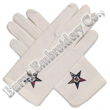 Masonic Regalia Hands Embroidery Gloves