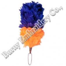Blue Orange Plume Feather