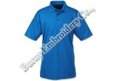 Men Royal Blue Short Sleeve Polyester Cotton T-Shirts Polo Shirts