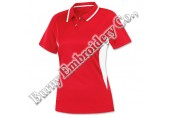 Multicolor Ladies Short Sleeve Polyester Cotton T-Shirts Polo Shirts