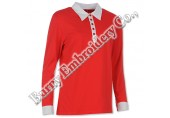 Ladies Long Sleeve Polyester Cotton T-Shirts Polo Shirts