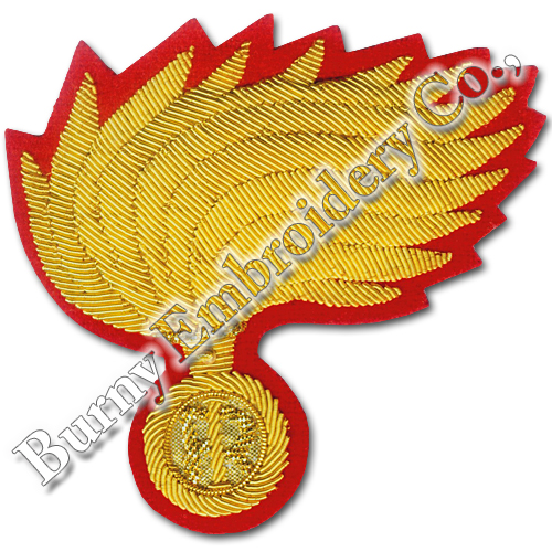 Italy Golden Bullion Blazer Hands Embroidery Cap Badges